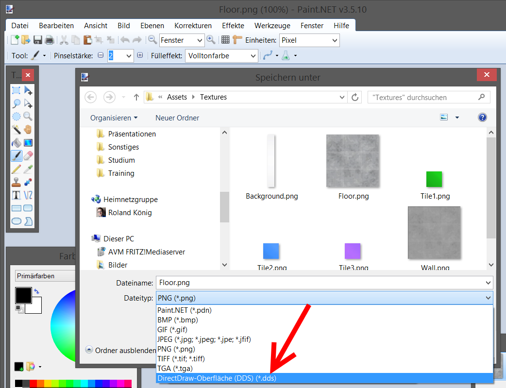 DDS-Support in Paint.Net
