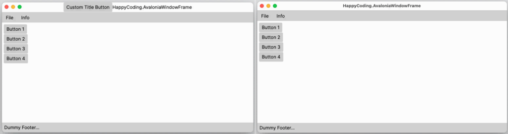 MainWindowFrame unter macOS